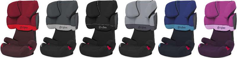Cybex Solution X Fix Farben des Kindersitzes