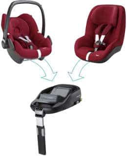 FamilyConcept: Verwendung von 2 Kindersitzen über die FamilyFix ISOFIX Basis
